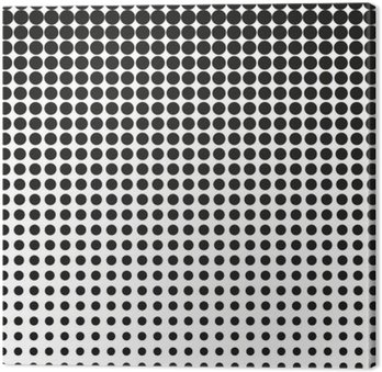 Abstract halftone. Black dots on white background. Halftone background. Vector halftone dots. halftone on white background. Background for design Canvas Print