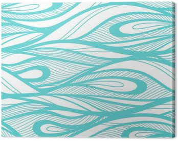 Canvas Print Abstract hand drawn illustration, waves background.