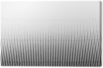 Canvas Print Abstract minimalistic white striped background with vertical lines and header. Copy space . The texture.