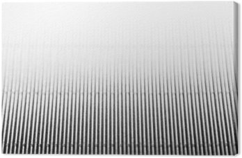 Abstract minimalistic white striped background with vertical lines and header. Copy space . The texture.