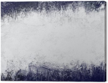 Canvas Print Abstract painted background in dark blue and white with empty space for text