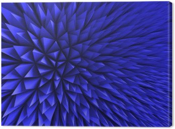 Abstract Poligon Chaotic Blue Background Canvas Print