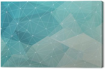 abstract polygonal background, vector Canvas Print