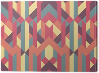 abstract retro geometric pattern Canvas Print