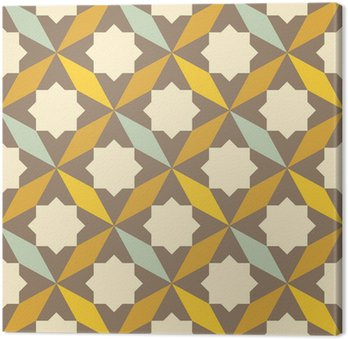 abstract retro geometric pattern Canvas Print