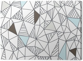 Abstract seamless doodle pattern Canvas Print