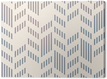 Canvas Print Abstract Seamless Geometric Vector Chevron Pattern. Mesh backgro