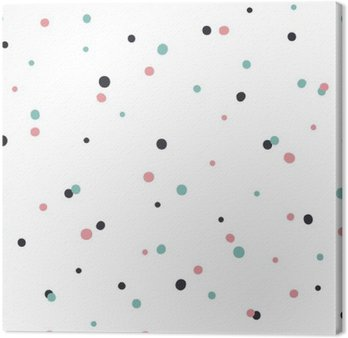 Abstract Seamless Pattern on White Background with Black and Gol Canvas Print