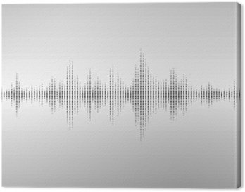 Canvas Print Abstract sound waves.