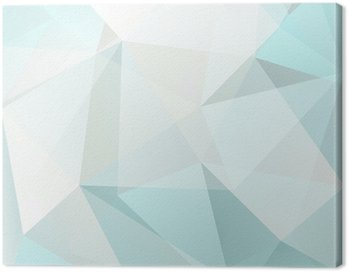 Canvas Print abstract triangle background, vector