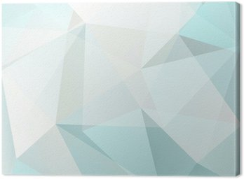 abstract triangle background, vector Canvas Print