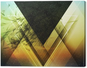 Canvas Print Abstract triangle future vector background