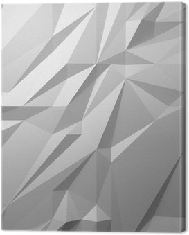 Canvas Print abstract white background low poly