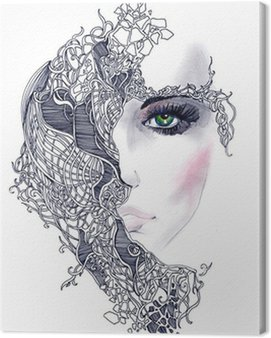 abstract woman face Canvas Print