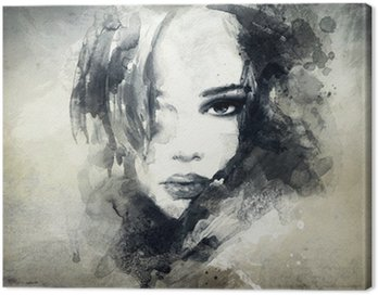 Canvas Print abstract woman portrait