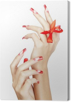Acrylic nails manicure