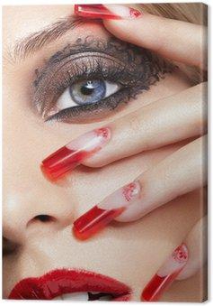 Canvas Print Acrylic nails manicure
