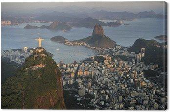 Canvas Print Aerial view of Christ, Sugarloaf, Guanabara Bay, Rio de Janeiro
