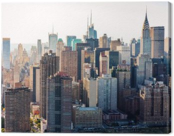 Canvas Print Aerial view of the New York City skyline