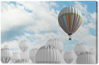 Canvas Print Aerostats in sky