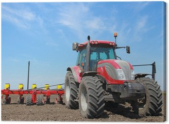 Agricultural machinery, sowing Canvas Print