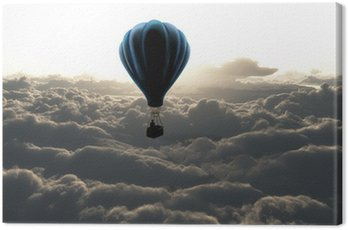 air balloon on sky Canvas Print