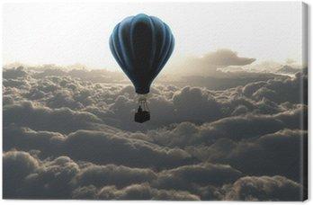 Canvas Print air balloon on sky
