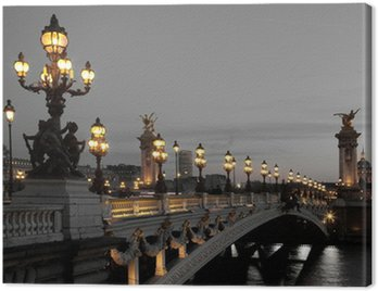 Canvas Print Alexander III bridge, Paris, France