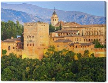 Canvas Print Alhambra palace, Granada, Spain