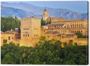Alhambra palace, Granada, Spain Canvas Print