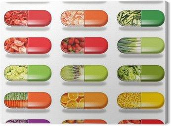 alimentation diététique Canvas Print