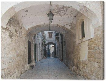 Canvas Print Alleyway. Bisceglie. Apulia.