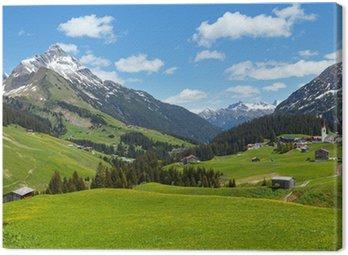 Alpine view (Vorarlberg,Austria) Canvas Print