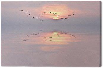 Canvas Print amanecer de colores suaves