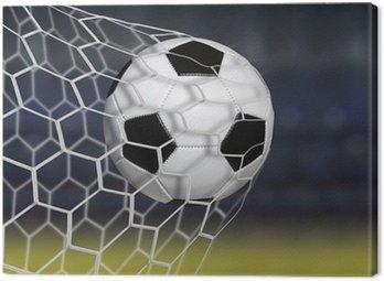 Canvas Print Amazing soccer goal
