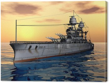 Canvas Print American Battleship USS Arizona