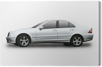 Canvas Print An executive car isolated on a white background