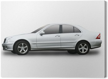 An executive car isolated on a white background