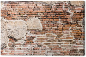Canvas Print Ancient brick wall fragment