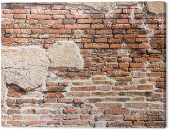 Ancient brick wall fragment