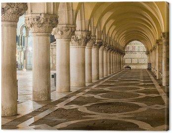 Ancient Columns in Venice. Arches in Piazza San Marco, Venezia Canvas Print