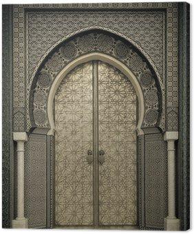 Canvas Print Ancient doors, Morocco