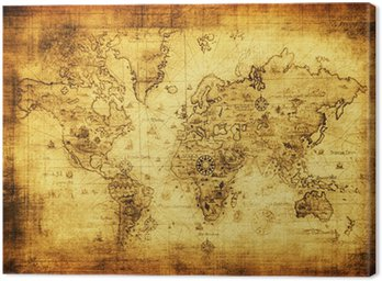 Canvas Print ancient map of the world