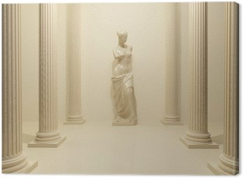 Ancient Statue of a nude Venus in the middle of perspective pill Canvas Print