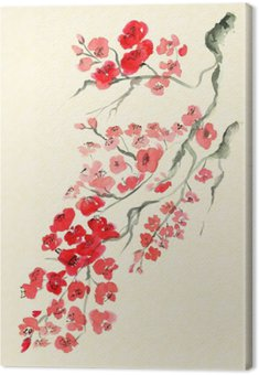 Canvas Print Ancient Traditional Artistic plum blossom