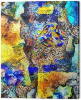 Canvas Print Angular Abstract