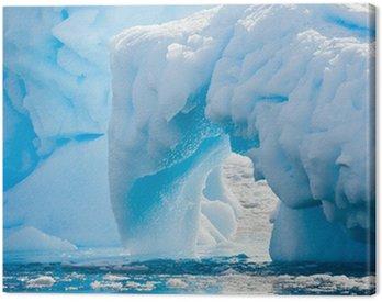 Canvas Print Antarctic Glacier