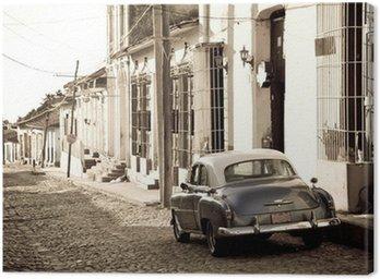 Canvas Print Antique car, Trinidad