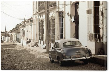 Canvas Print Antique car, Trinidad