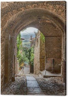 Canvas Print antique Italian alley